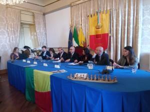 Conferenza Stampa Benin- Assesserato Giovani Sala Giunta Comune di Napoli-